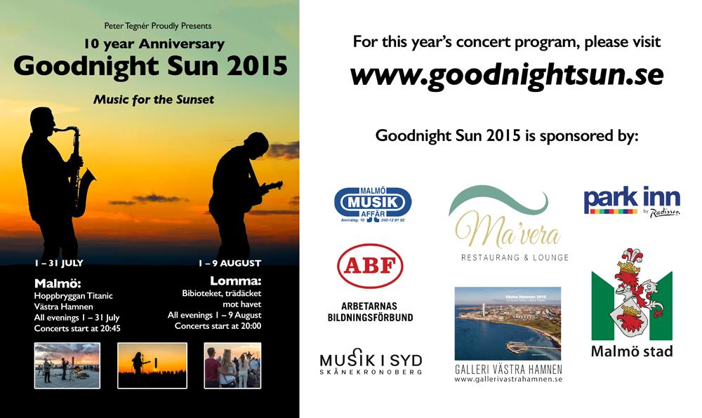 Goodnight Sun | Goodnight Sun, musik till solnedgången
